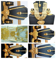 Necklace 22K Gold Plated Indian Designer Variation Necklace Earrings party Set b