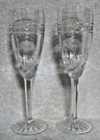 Pair of Waterford Crystal Laurel Fluted Champagne
