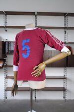 HERRENSPIELERHEMD DDR Nr. 5  80er GDR Trikot rot weiß tricot Shirt True Vintage