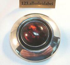 N.E. From Dänemark Silber Bernstein Brosche Erik Nils old silver Brooch / AL 604