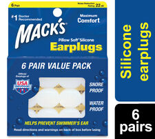 MACKS Pillow Soft Earplugs Moldable Silicone Putty 6x Pair Value Pack