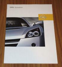 Catalogue OPEL SPEEDSTER de 2002