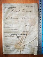 LIBRETTO ESERCITO RISORGIMENTO 1849 BRIGATA PIEMONTE 4°REGGIMENTO FANTERIA REGIO
