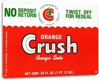 Orange Crush Cola Soda Pop Advertising Vintage Retro Wall Decor Metal Tin Sign