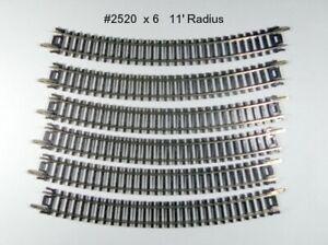 "N Scale CURVED Track Atlas #2520 6 X 11"" Radius NEW TRACK  Makes 1 Semi Circle"