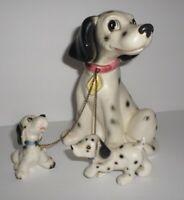 Vintage Lipper & Mann Leashed Dog Figurine 101 Dalmatians? Pongo & Lucky Puppies