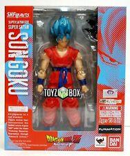 "S.h. Figuarts SSGSS ""super Saiyan God Goku Dragonball Z DBZ Bandai Action Figure"