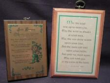 Irish Blessing & Old Irish Verse Pair of Wooden Plaques St Patrick's Day Theme