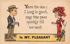 Mt Pleasant Michigan~Iowa~The One I Long to Meet~Flapper Couple~Pocket Watch