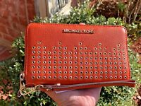 MICHAEL KORS HAYES LARGE FLAT PHONE CASE WALLET PERSIMMON