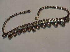 Vintage Purple Paste Rhinestone Jeweled Necklace - GORGEOUS!