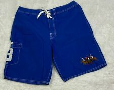 Polo Ralph Lauren Men's Board Shorts Blue Pony Embroidery #3 Size 32