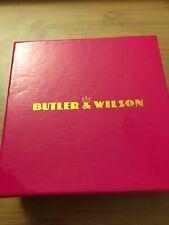 Butler and Wilson Bracelet Bow Heart Gunmetal - Boxed