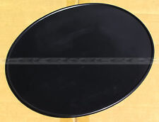 "Black 9"" X 11"" Oval Number Plate Side or Front Vintage MX Road Race AMA AHRMA"