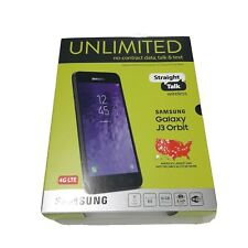 "NEW Samsung Galaxy J3 Orbit STRAIGHT TALK  5"" Screen 16GB 4G LTE Prepaid Phone"