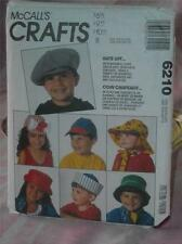 McCalls Crafts, #6210, 9 Styles of Children's Hats,  S, M, L