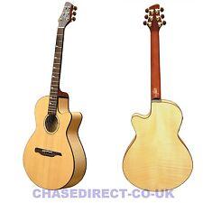 Guvnor Electro Acoustic Guitar Folk Style GA755CE Cutaway Solid Top Z-00