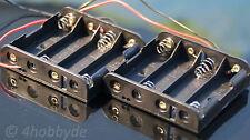 2x Batteriehalter 6V 4 AA 4x1,5V Batteriegehäuse Batteriebox Modellbau RC 12