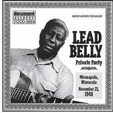 Private Party November 21, 1948 Lead Belly CD 2000 Document FAST USA SHIPPING