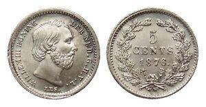 Niederlande  5 Cent 1876  stempelglanz