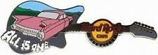 "Hard Rock Cafe NASHVILLE 2008 Pink Cadillac GUITAR PIN ""ALL IS ONE"" Caddy #43163"