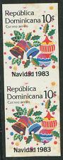 Dominican Republic Mi # 1411 Pair Imperforate Mint Nh (Toned Gum) Vf