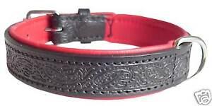 WOZA Premium Halsung Hundehalsband Vollleder Rindnappa Lederhalsband CE22117