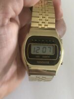 VINTAGE Yamaha GoldTone Quartz  Chronograph LCD Digital Wrist Watch(20861M)
