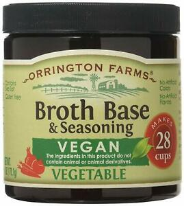 Orrington Farms Vegan Vegetable Broth Base & Seasoning, 6 Ounce (Pack of 1)