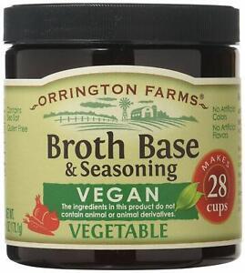 Orrington Farms Vegan Vegetable Broth Base & Seasoning, 6 Ounce (Pack of 1)