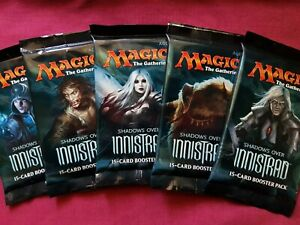 MTG Magic The Gathering SHADOWS OVER INNISTRAD New Sealed Booster 5 PACK ART