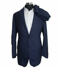 50R 36x31 Ermenegildo Zegna Su Misura Suit Navy  2 Button Wool Suit