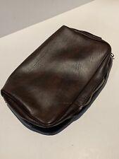 vintage FLINT brown cosmetic toiletry bag EDC
