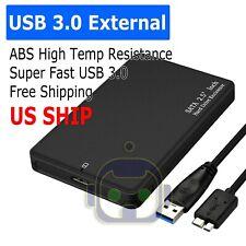 "2.5"" SATA USB 3.0 BLK Hard Drive Disk HDD SSD Enclosure External Laptop Case"