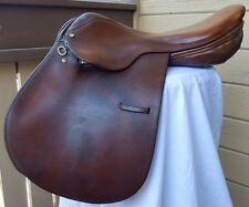 "Borelli 16.5"" Close Contact English Jumping Saddle *Restore, Parts or Decor"