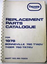 TRIUMPH Bonneville + Tiger 750 1978 99-7003 Original Motorcycle Spare Parts List