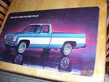 1980 silverado diesel truck Dealer Showroom Poster display GM