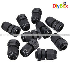 10PCS Waterproof Fixing Gland Connector PG7 for 3.5-6mm Dia Cable Wire D