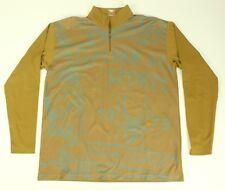 SPYDER 1/2 Zip Pullover Jacket XL Light Sweater Sports VTG Tan Brown 1978 Poly