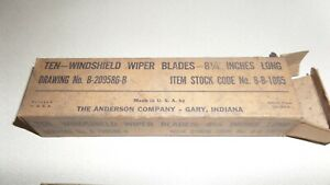 4 NOS 8 1/4 Wiper Blades 1938 Ford Chevrolet Buick Dodge Packard W BOX