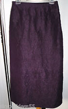 EILEEN FISHER EGGPLANT CRINKLED TISSUE WEIGHT MAXI SKIRT NWOT RETAIL $168 S
