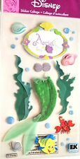 Disney Ariel Sebastian Mermaid Fins Seaweed Seashells Bubbles  3D Stickers