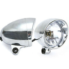2x Chrome Spot light For Honda VT VF Shadow Spirit Velorex Deluxe 600 750 1100