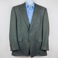 Burberry London Mens Blazer Size 42 Long Gray Multicolor Tweed Jacket