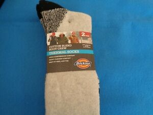 Men's Thermal Socks from Dickies NWT Boot Crew Cotton Blend Size 6-12 Gray 2pair