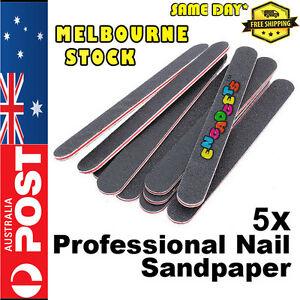 5 x Nail File Acrylic Salon Professional 100/180 Manicure Art Straight Buffer