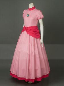 Super Princess Peach Pink Cosplay Costume