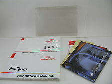 Kia Rio 2002 02 Owners Manual Cover Book Set Free Shipping Guide Handbook