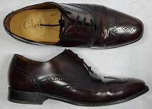 Cole Haan Mens Size 10.5 NikeAir Oxblood Leather Shoes Oxfords Brogue C07990 EUC