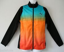 TOUR ED~Puma Golf STRETCH PRINT WIND CELL JACKET sweat shirt RICKIE FOWLER~Men M